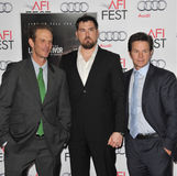 Mark Wahlberg y Marcus Luttrell y Peter Berg Imagen de archivo