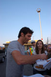 Mark Webber. F1 driver Mark Webber met his fans and gave autographs on August 1, 2010 in Budapest, Hungary Stock Photo
