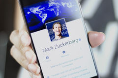 Mark Zuckerberg é o fundador e o CEO de Facebook imagem de stock royalty free