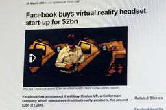 Mark Zuckerberg Oculus Rift acquisition Royalty Free Stock Photography