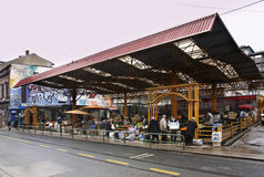 Markale market (Pijaca Markale) in Sarajevo. Bosnia and Herzegovina Royalty Free Stock Images