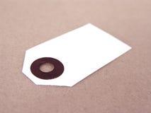 Marke auf braunem Papier lizenzfreies stockfoto