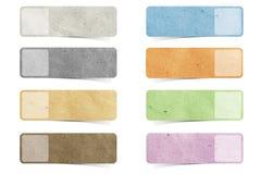 Marke aufbereitete Papierfertigkeit Stockbilder