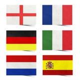 Marke der Nation-Markierungsfahne (Europa) bereitete Papier auf Stockfotografie