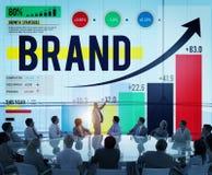 Marke, die Logo Commercial Copyright Emblem Concept brandmarkt Lizenzfreie Stockbilder