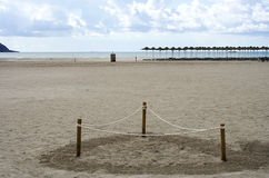 Marked area on the beach Royalty Free Stock Images