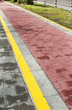 Marked bicycle path Stock Photography