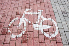Marked bicycle path Stock Image