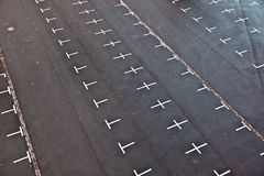 Marked parking lot without cars Stock Images