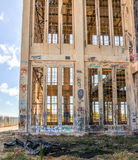 Marked by Youth: Old Power House Ruins Stock Photo