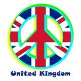 Markeer het Verenigd Koninkrijk als teken van pacifisme stock illustratie
