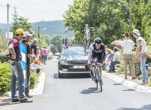 骑自行车者Markel Irizar -环法自行车赛2014年 免版税库存图片
