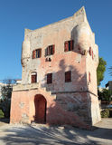 Markellos塔在Aegina 库存图片