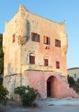 Markellos Kontrollturm in Aegina Stockbilder