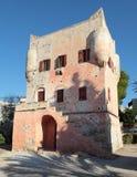 Markellos står hög i Aegina Arkivbilder