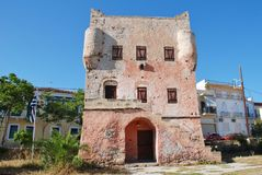 Markellos-Turm, Aegina-Insel Stockbild
