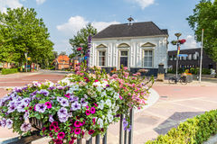 MARKELO, NETHERLANDS - JUNE 3, 2016: Beaufort House in Markelo. White historic Beaufort House in Markelo, Netherlands Royalty Free Stock Photography
