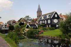 Marken, традиционная голландская деревня, Нидерланды Стоковая Фотография RF