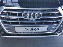 Marken-Darstellungsneuwagen Konzeptes Ukraine Kiew am 25. Februar 2018 stilvolle in Audi Motor Show Stockfotos