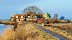 Marken en liten by i Nederländerna Royaltyfria Foton
