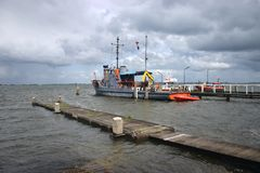 Marken-Fishing boat on northern sea Stock Photos