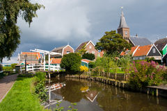 Marken - Holland. Historical town of Marken during summer in Holland stock photography