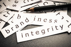 Marken-Integrität Lizenzfreie Stockfotos