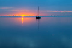 Marken på solnedgången fotografering för bildbyråer