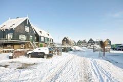 Marken in winter in the Netherlands Stock Photos