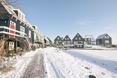 Marken in winter in the Netherlands Stock Images