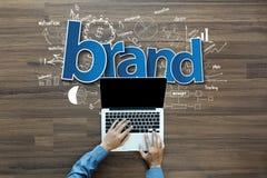 Markenidentitäts-Ideenkonzept Stockfoto