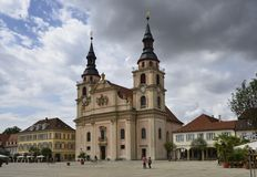 Markeplatz and church, Ludwigsburg Royalty Free Stock Photos