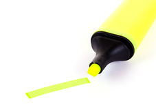 Marker. Yellow marker isolated on white background Royalty Free Stock Images