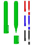 Marker. Vector image of markers of various colours on a white background Royalty Free Stock Image