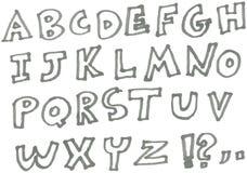 Marker alphabet Stock Image