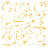 Marker arrows. Marker drawing series - arrows - color can be changed by one click royalty free illustration