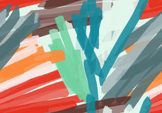 Marker brush colorful stokes Royalty Free Stock Photos