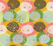 Marker circles green orange and pink Stock Images