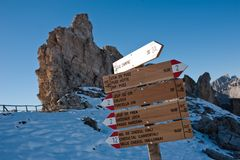 Marker on the Cirjoch Royalty Free Stock Images
