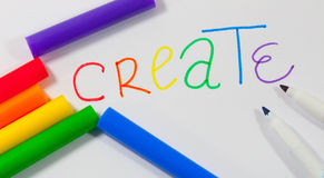 Marker Create Royalty Free Stock Images