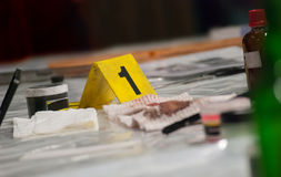 Marker of Crime Scene Royalty Free Stock Photography
