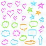 Marker doodles Stock Image