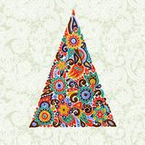 Marker drawing christmas tree Royalty Free Stock Image