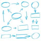Marker elements. Scribble marker elements, vector illustration Stock Images