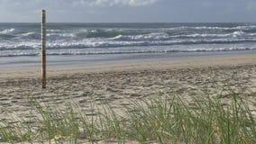 Marker at Elston`s beach, aka `Surfer`s Paradise, Australian Gold Coast.. stock video footage