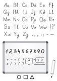 Marker font Stock Images