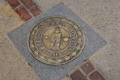 Marker for the Freedom Trail,Boston,Mass,2014 Stock Photography
