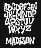 Marker Graffiti Font handwritten Typography vector illustration royalty free illustration