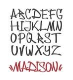 Marker Graffiti Font stock illustration