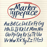 Marker hand drawn  font Stock Images